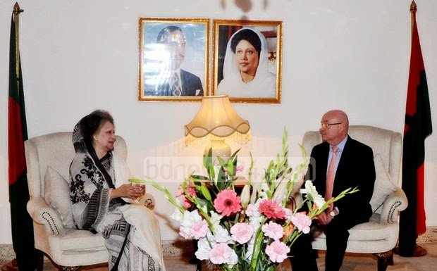 British High Commissioner Robert Gibson meeting with Khaleda Zia