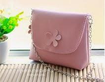 Pink Shoulder bag:  leather pu, กระเป๋า สะพายข้าง งานหนัง สีชมพูอ่อน