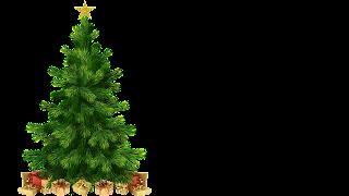 Árvore de Natal com Estrela e prendas png