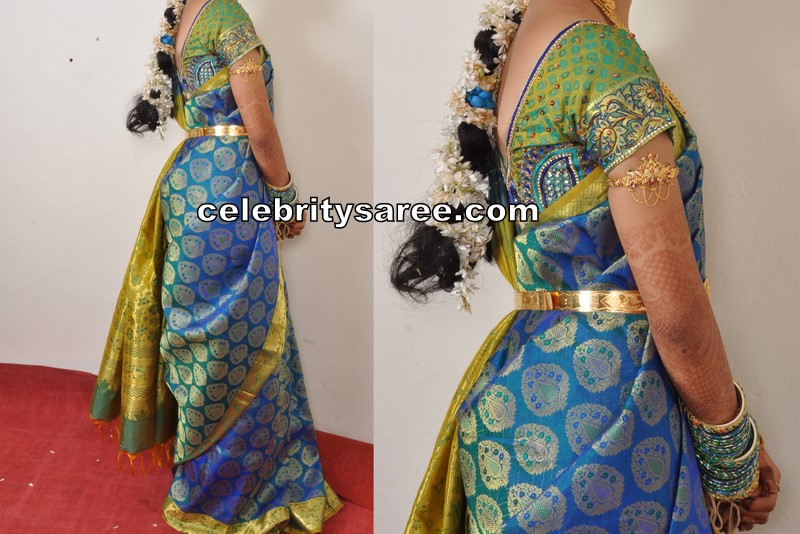 My Wedding Sarees With Silk Embroidery Blouses Saree Blouse Patterns