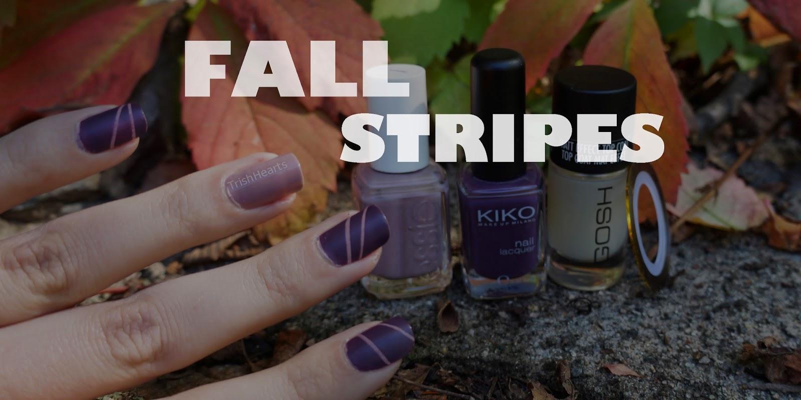 TrishHearts: ℘ Manicure Monday - Fall Stripes