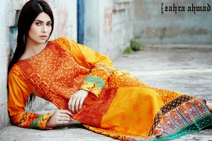 Zahra Ahmad New Lawn Collection 2014