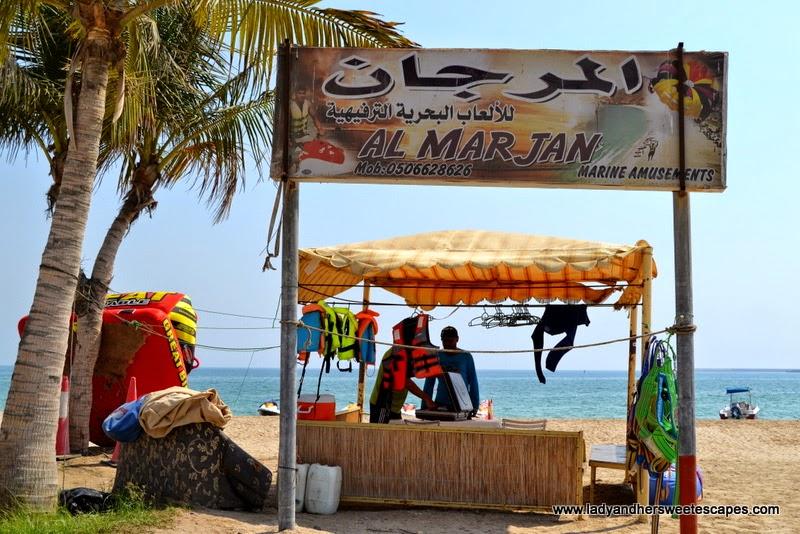 Al Marjan amusements in Khorfakkan Corniche