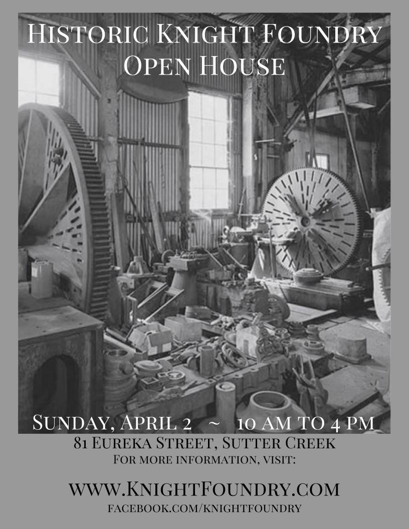 Knight Foundry Open House - Sun Apr 2