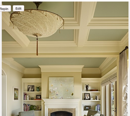 Coffered ceilings living quarters on a dime for Average cost of coffered ceiling