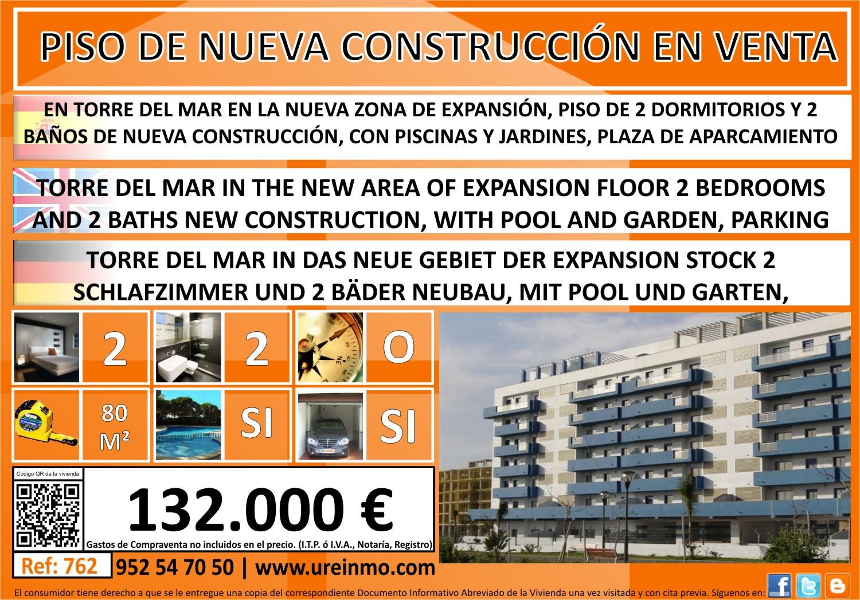 Ure a inmobiliaria piso de 2 dormitorios en torre del mar de nueva construcci n - Venta de pisos en torre del mar ...