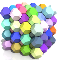 Truncated octahedra.jpg by AndrewKepert.