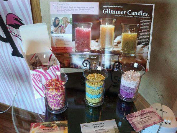 Pink Zebra Glimmer Candles Image