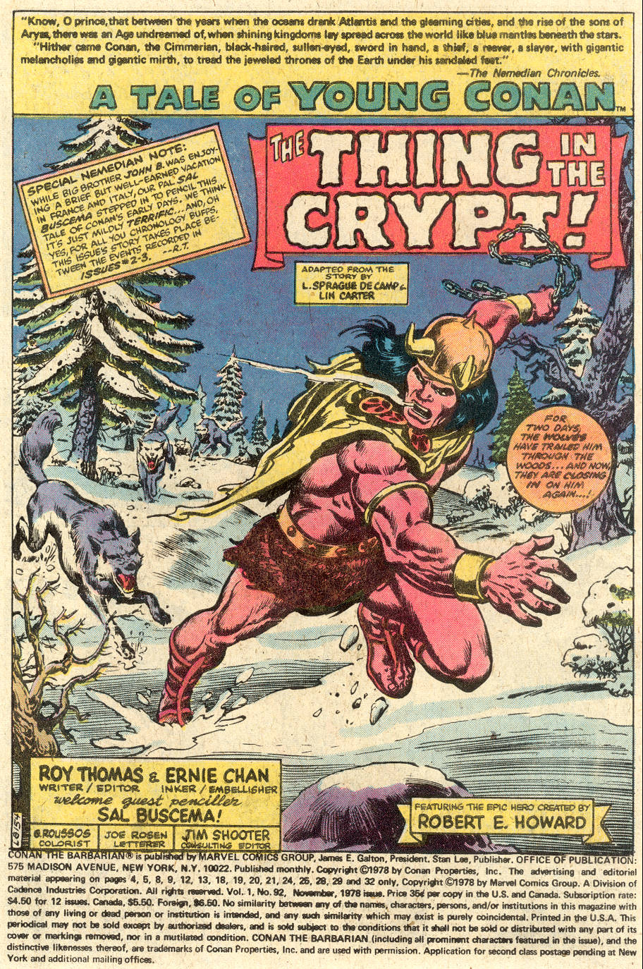 Conan the Barbarian (1970) Issue #92 #104 - English 2