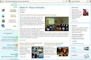 Matéria sobre meu trabalho com blogs na educação!