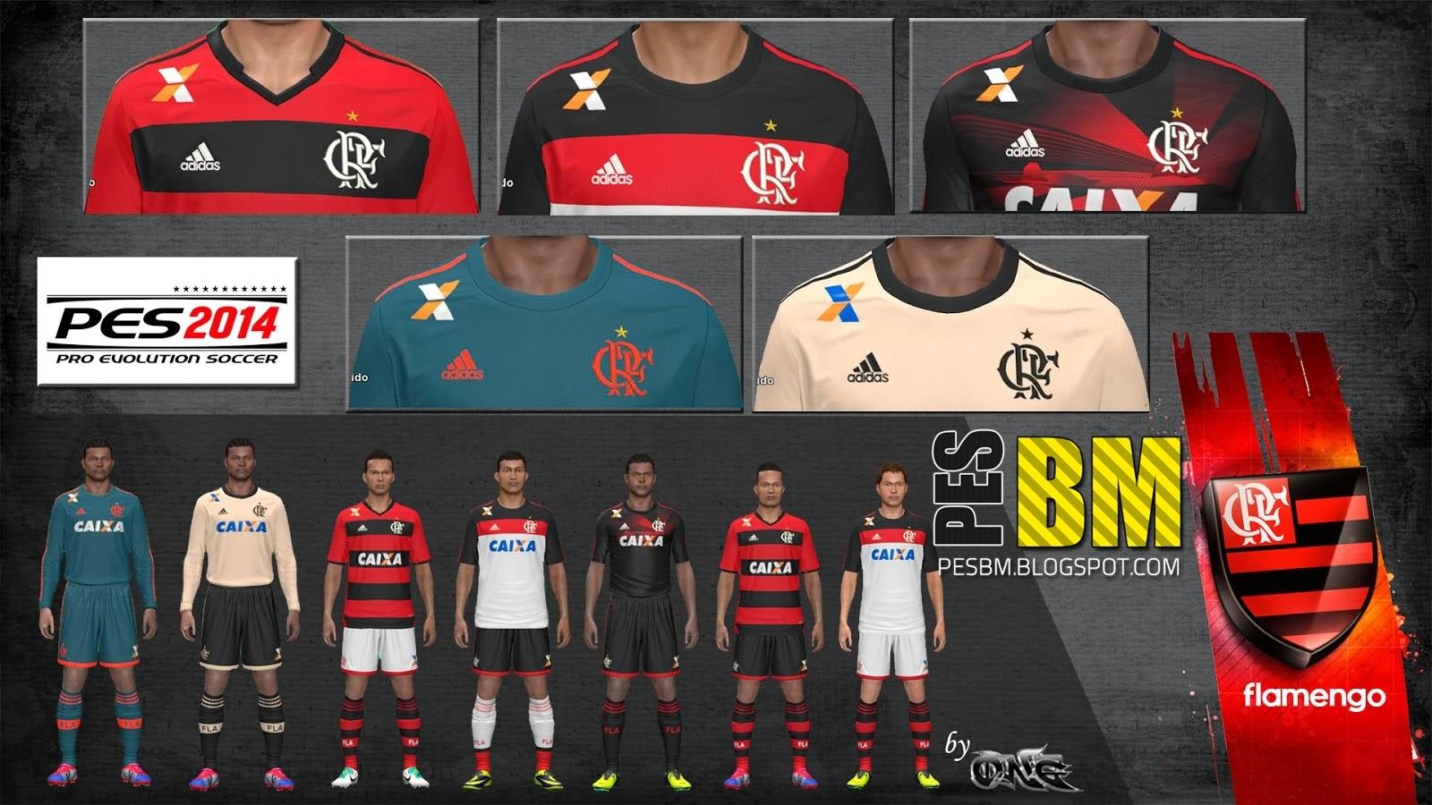 Uniforme do Flamengo Pes 2014 Pes 2014 Kit Flamengo 13-14