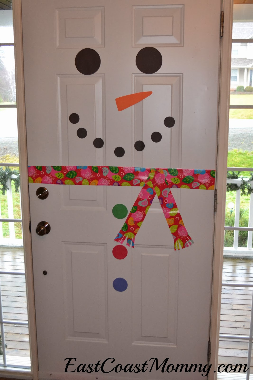 east coast mommy snowman door