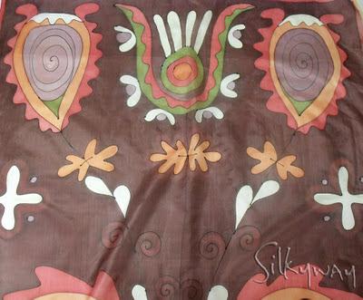 ajándék ötletek karácsonyra: silkyway selyemkendők, selyemsálak kézzel festve