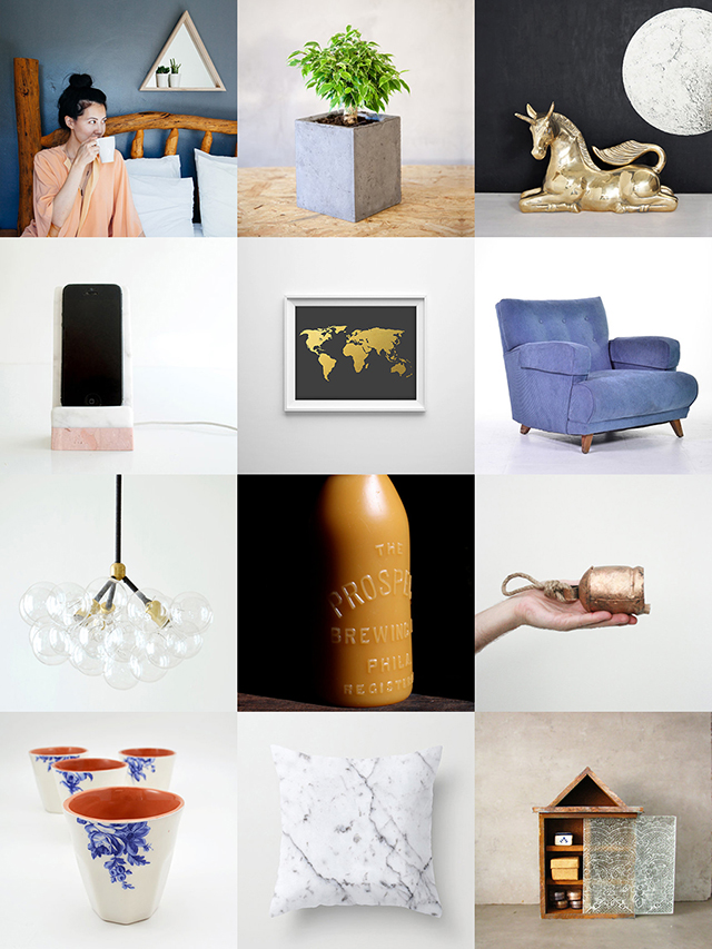 curated etsy home decor picks