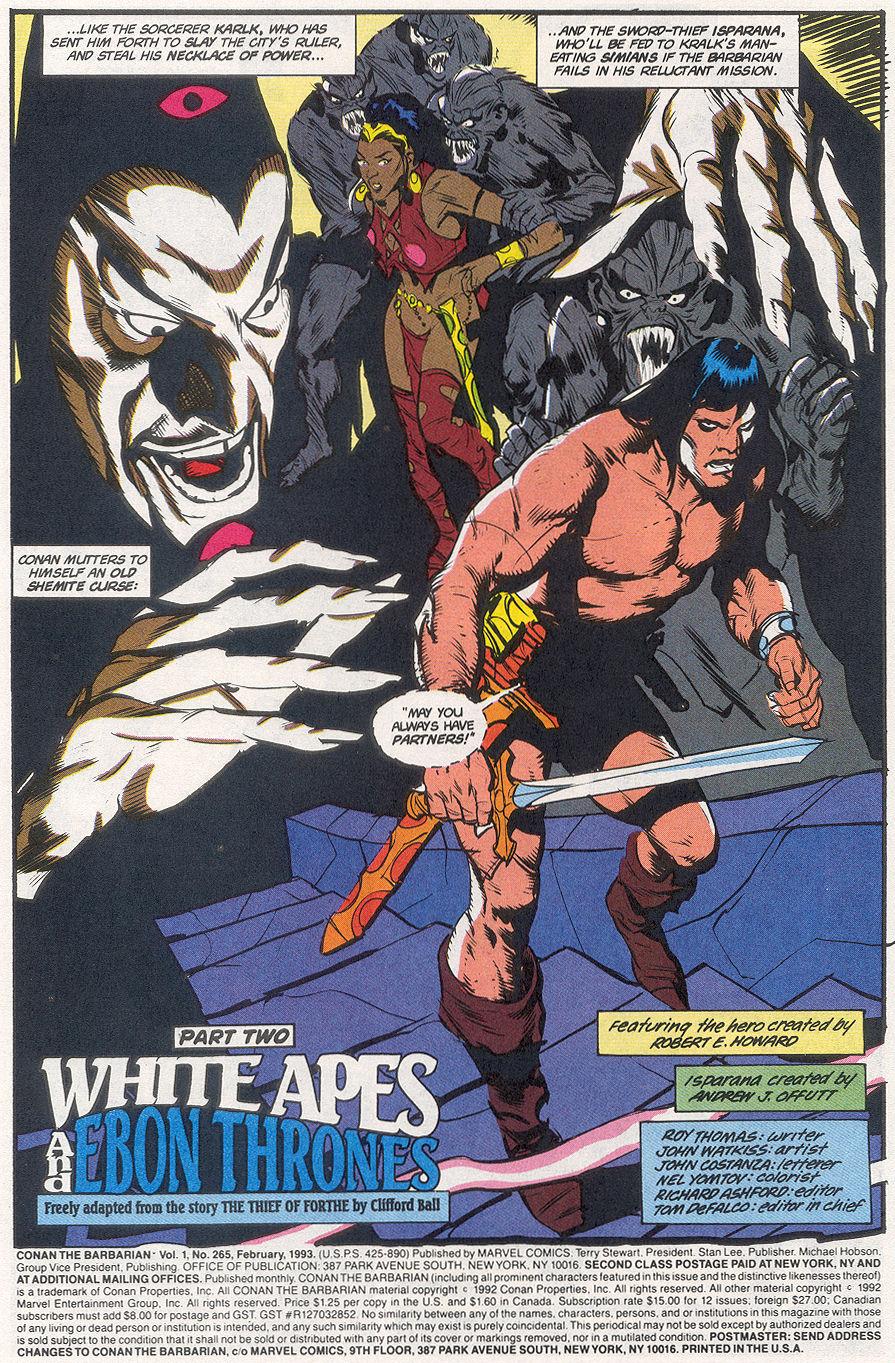 Conan the Barbarian (1970) Issue #265 #277 - English 3