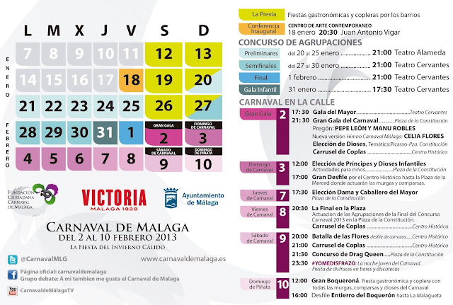 Programa Carnaval de Málaga 2013