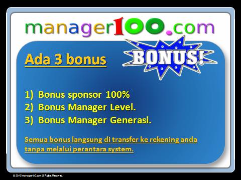Bonus Manager Generasi