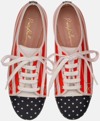 Pretty Ballerinas USA World Cup zapatos