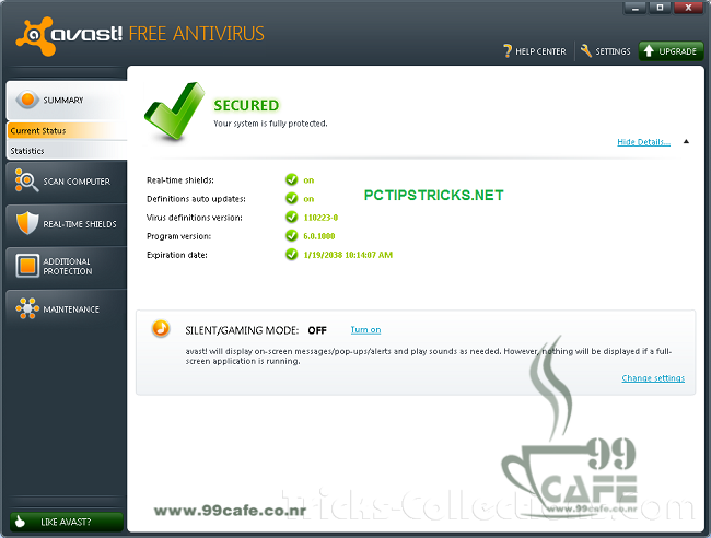 avast antivirus key for 1 year