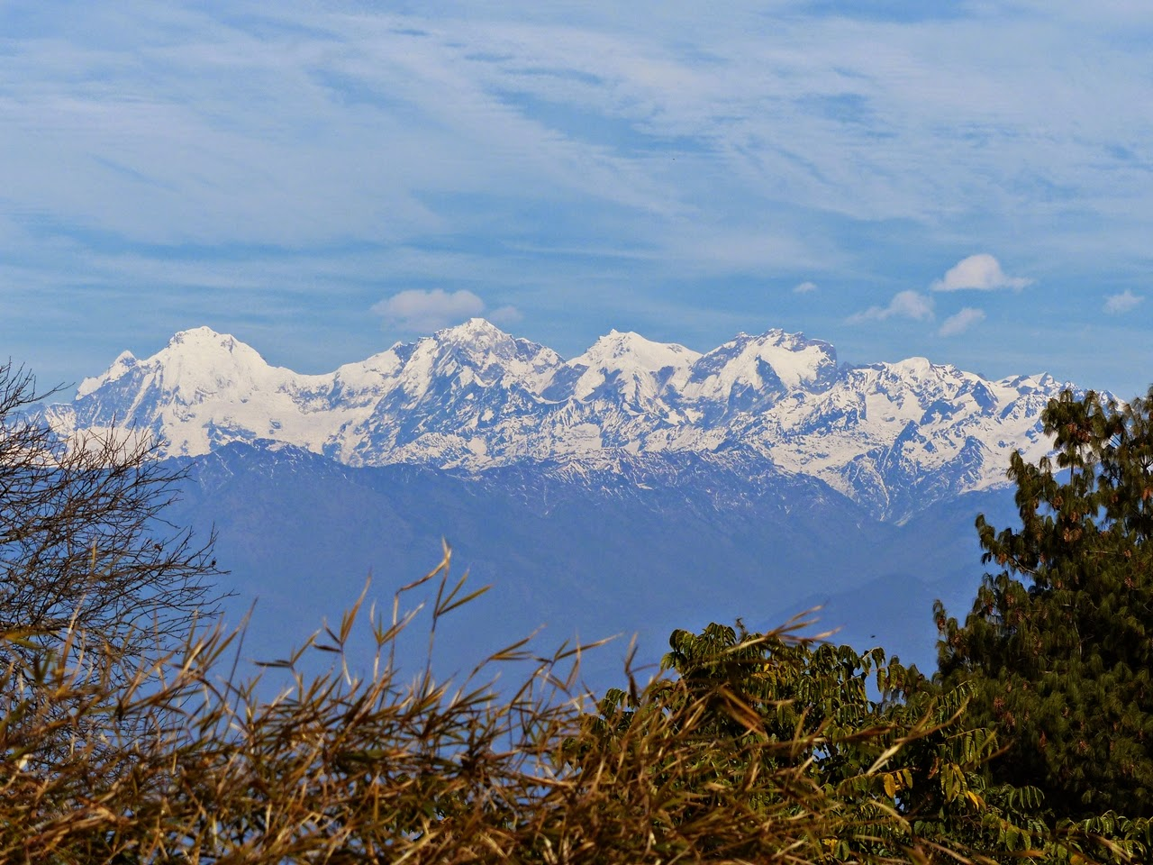 Himalayas view from Kakani, Nepal