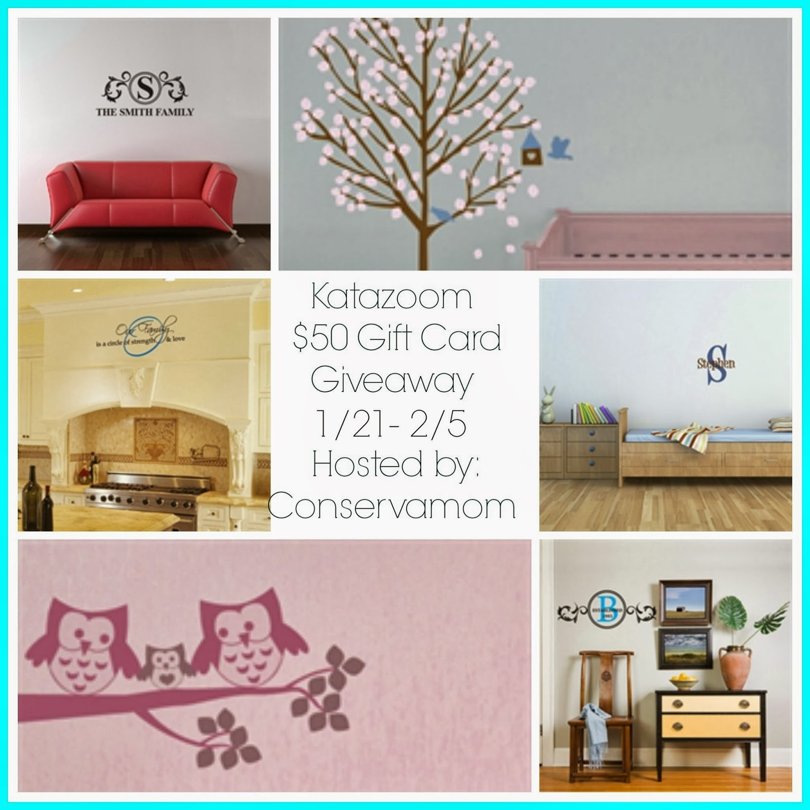 Enter to win the Katazoom $50 Gift Card Giveaway. Ends 2/5.