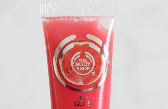 the bodyshop flavoured lip gloss watermelon