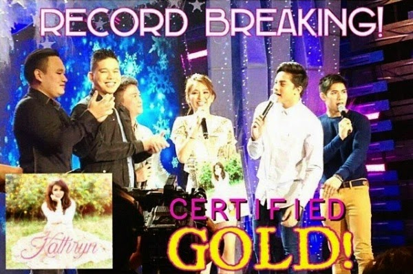 Kathryn Bernardo's self-titled debut record album hits gold on its first day of release