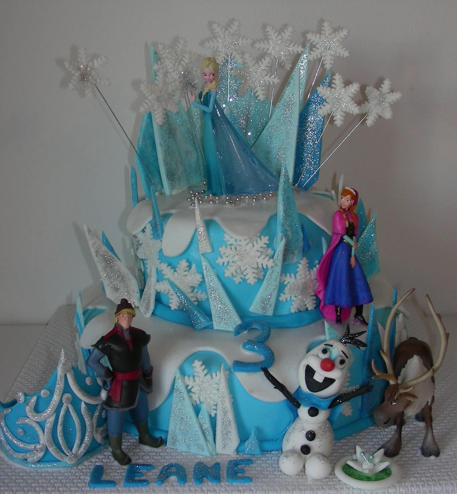 Gâteau Danniversaire Frozen La Reine Des Neiges Gateaux Daline