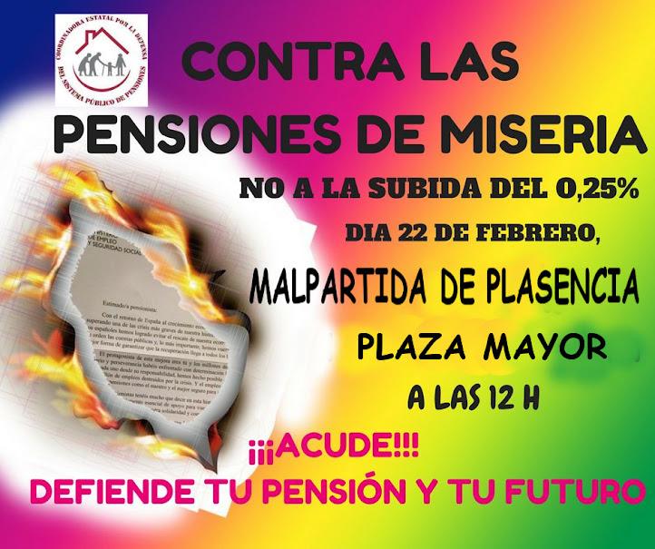 contra las pensiones de miseria