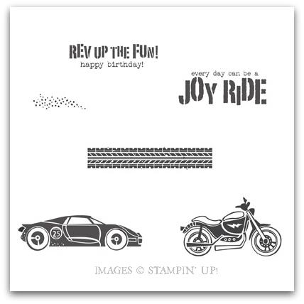 Stampin' Up! Rev Up The Fun! Digital Stamp Brush Set