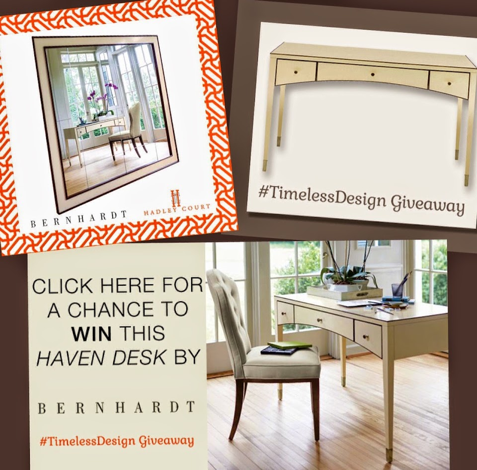 A Chance To Win The Gorgeous Haven Desk from Bernhardt, And Offered on Hadley Court Blog