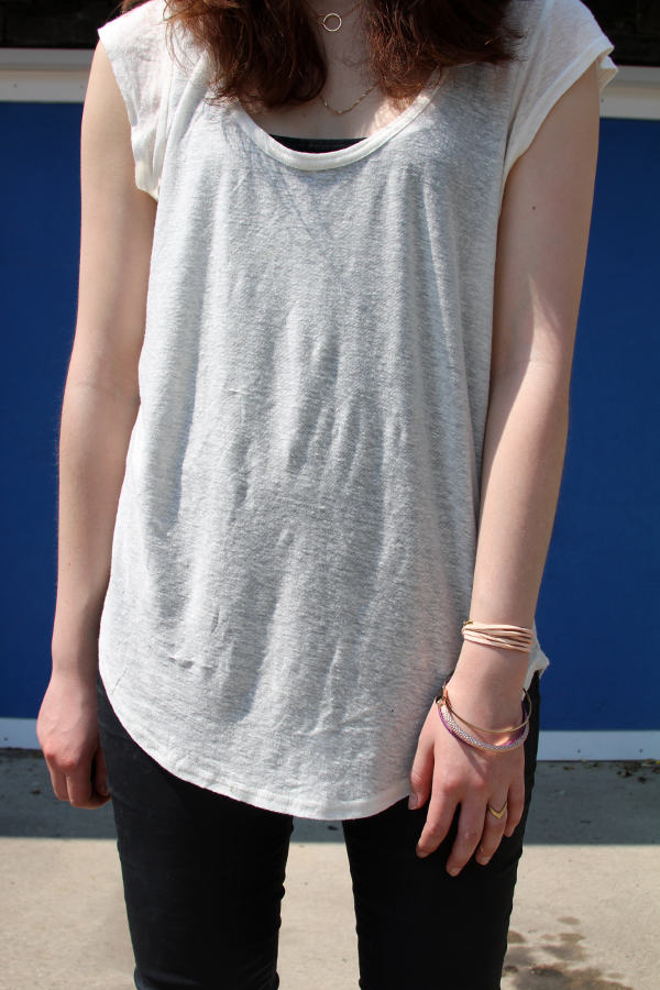 Talula Tshirt and Asos Bracelet Urban Outfitters Neclace