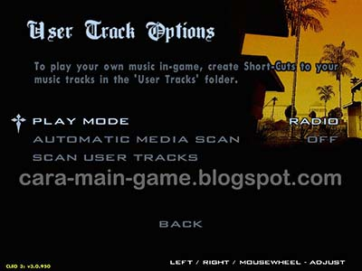 "User Track Options ""Plya Mode"" GTA San Andreas"