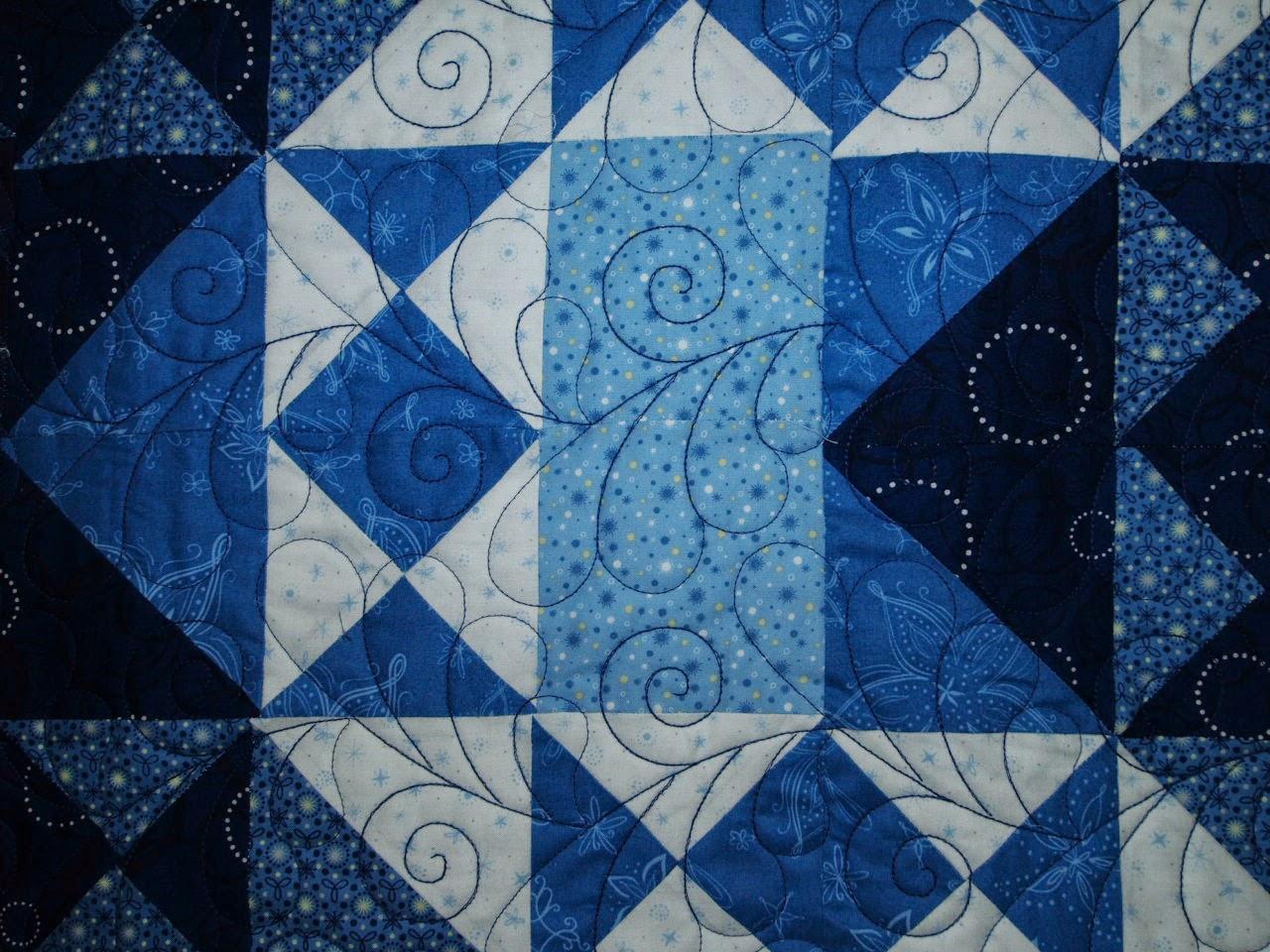 Judi Castro Blue Triangle Quilt