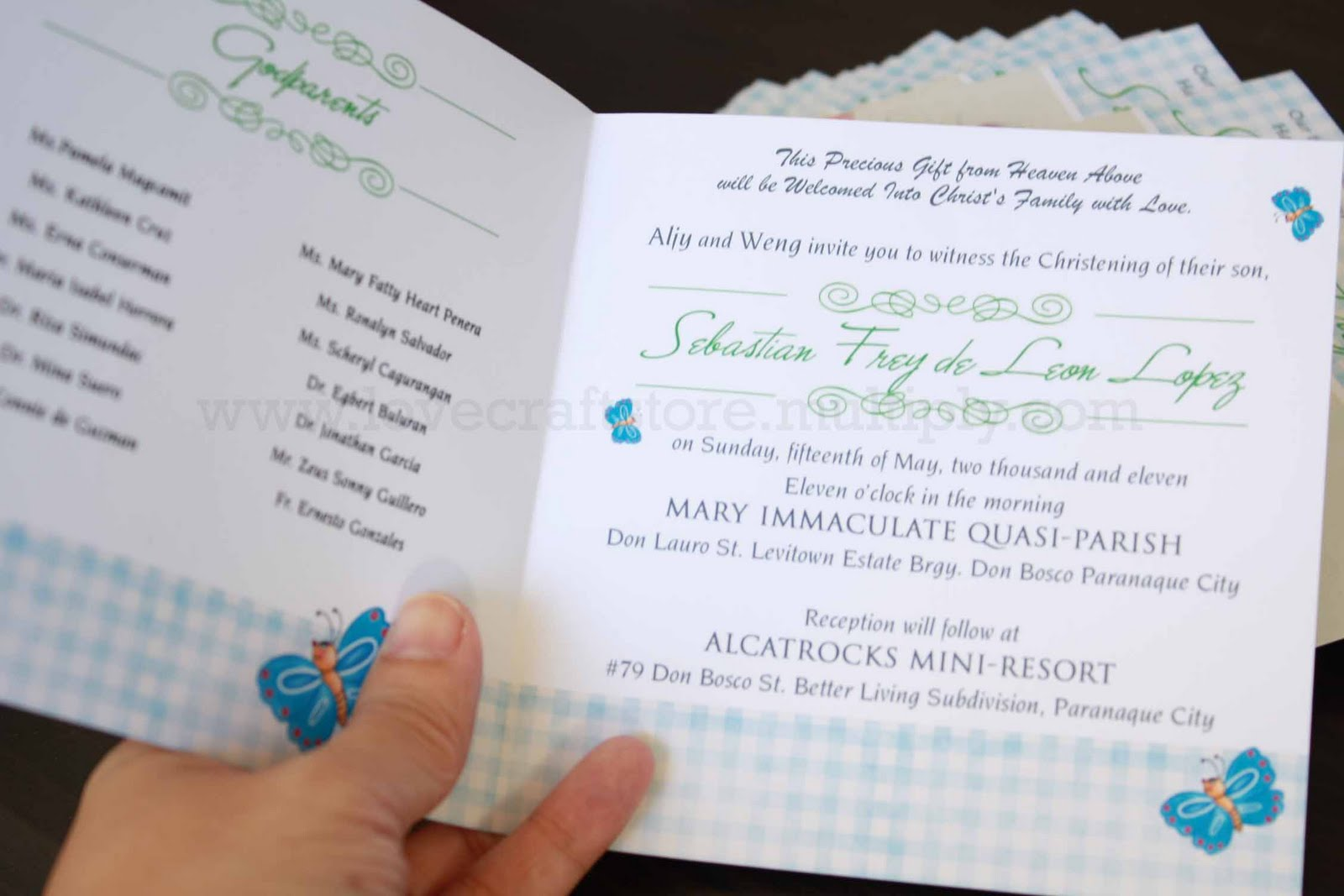 Invitation To Be Godparents with beautiful invitations example