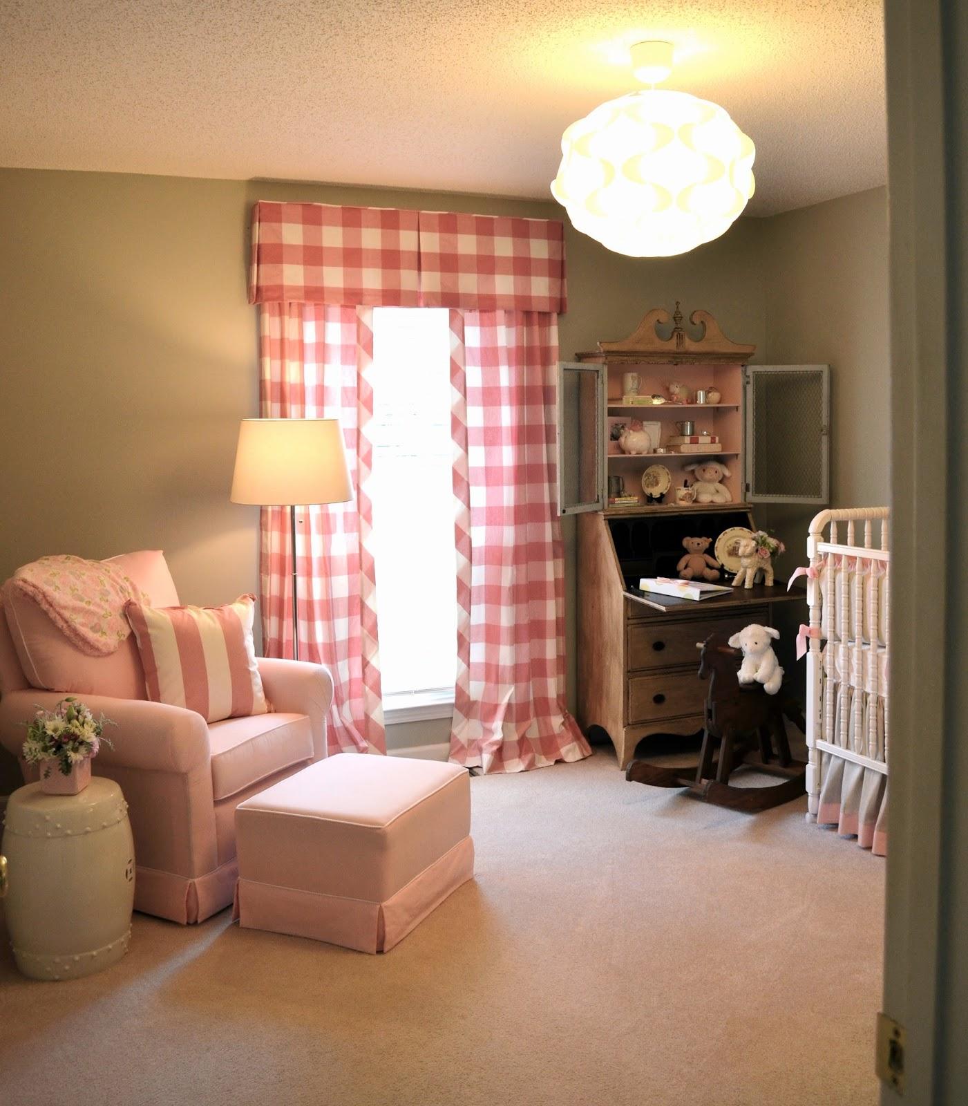 Pink Gray and Cream Nursery maggiegriffindesign