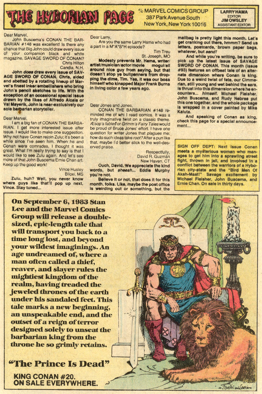 Conan the Barbarian (1970) Issue #152 #164 - English 25