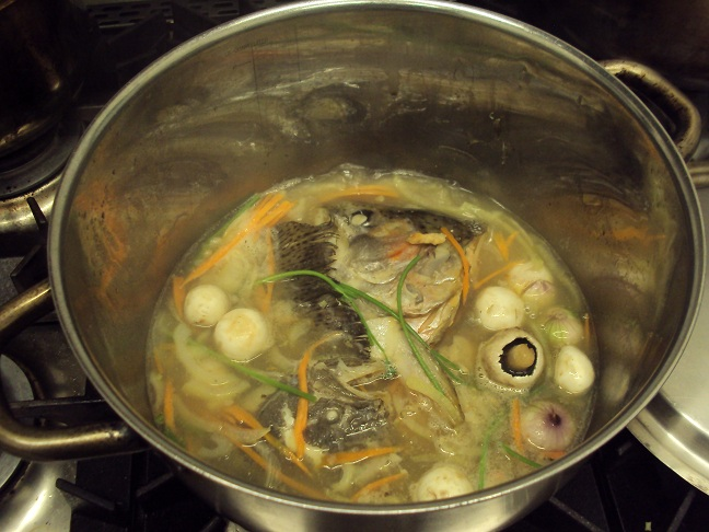The cotswold food year turbot and trout fish head soup for Fish head soup