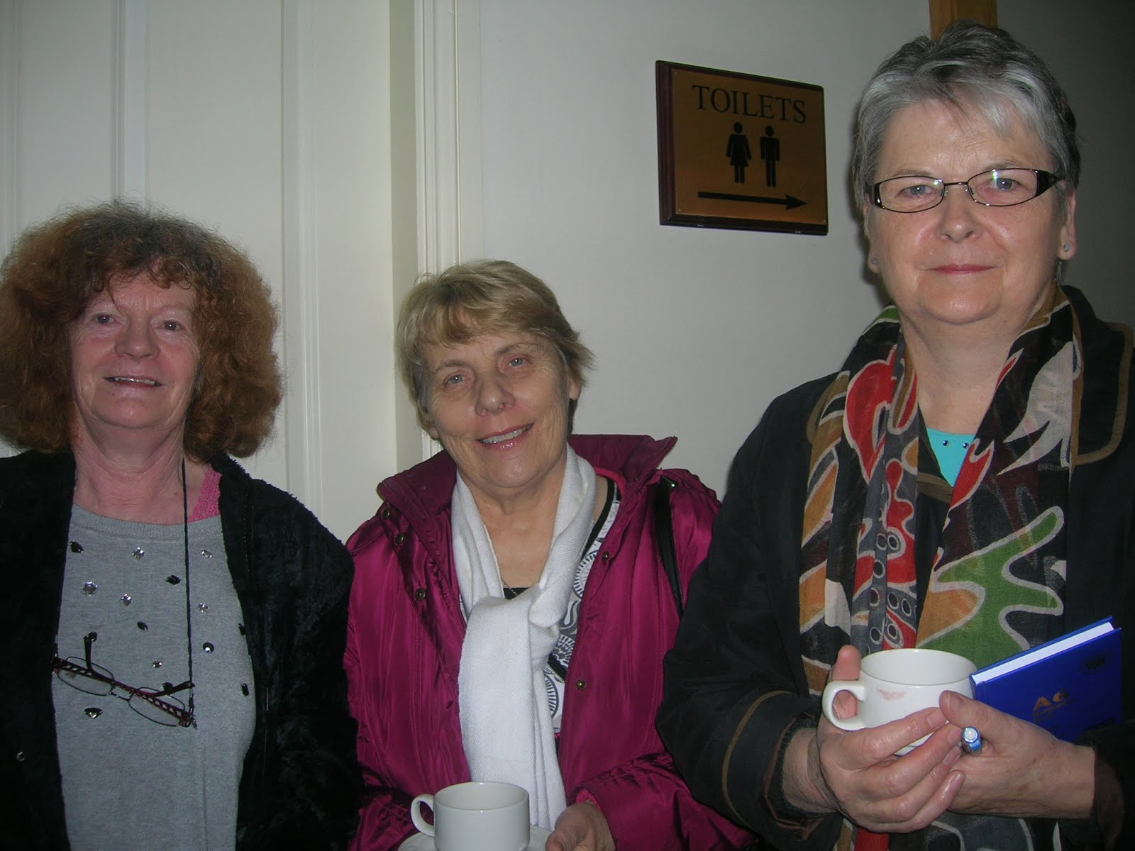 Patricia King, Rose Wall and Eileen Treacy