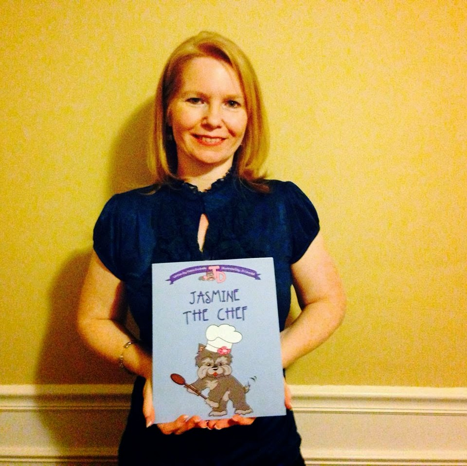 Maria Rochelle with a copy of Jasmine the Chef