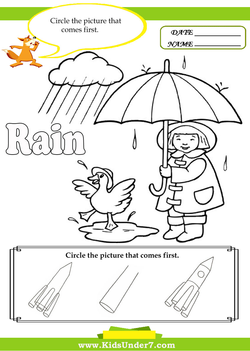 worksheet Rain Worksheets kids under 7 letter r worksheets worksheets
