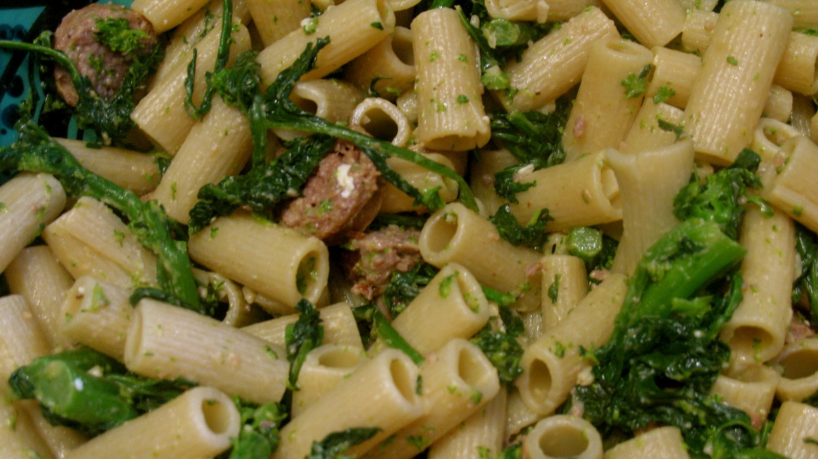 Cousins in the Kitchen: Rigatoni with Broccoli Rabe and Turkey Sausage