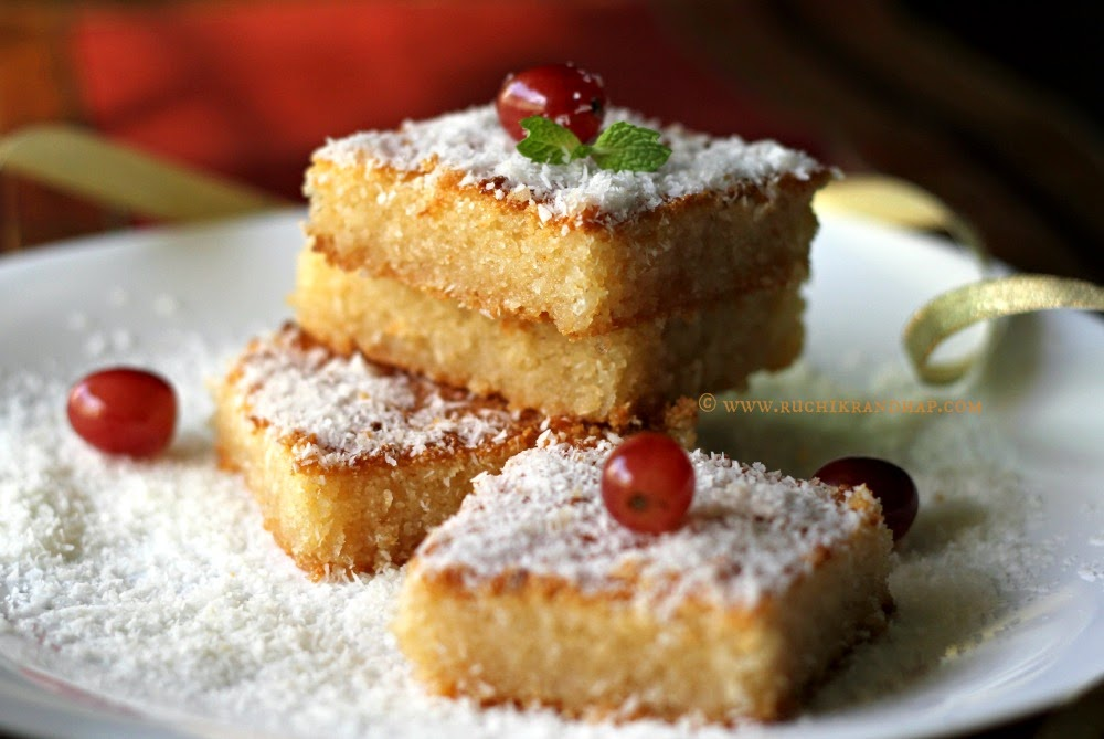 Middle Eastern Coconut Cake Recipe