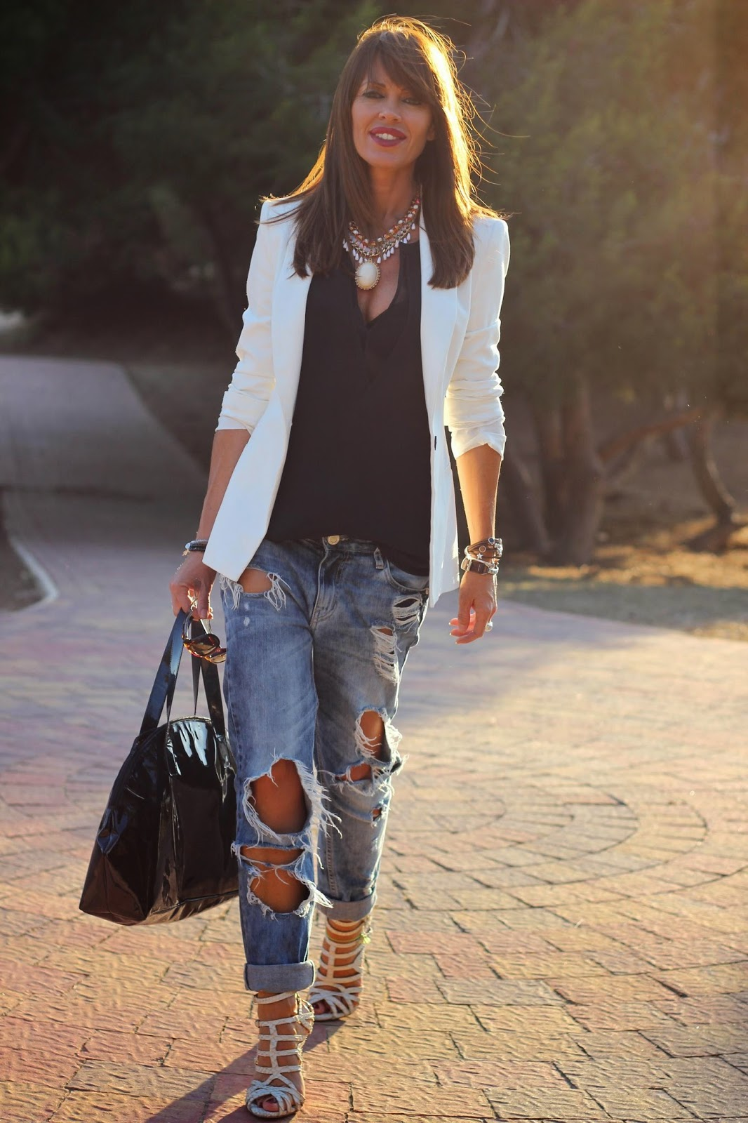 Outfit primavera 2014 - blazer blanca