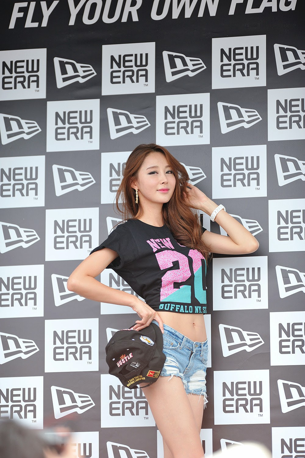 5 Eun Bin - New Era Pop-Up Store Promotion - very cute asian girl-girlcute4u.blogspot.com