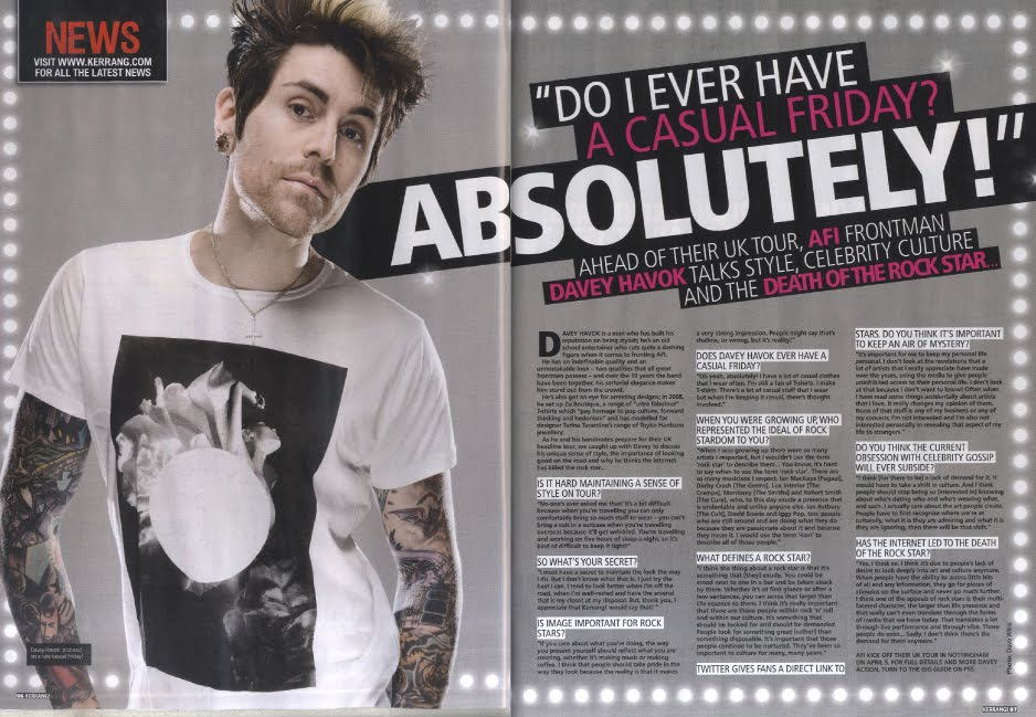 AS Media Coursework: Kerrang Magazine Main Research Influence (Double ...