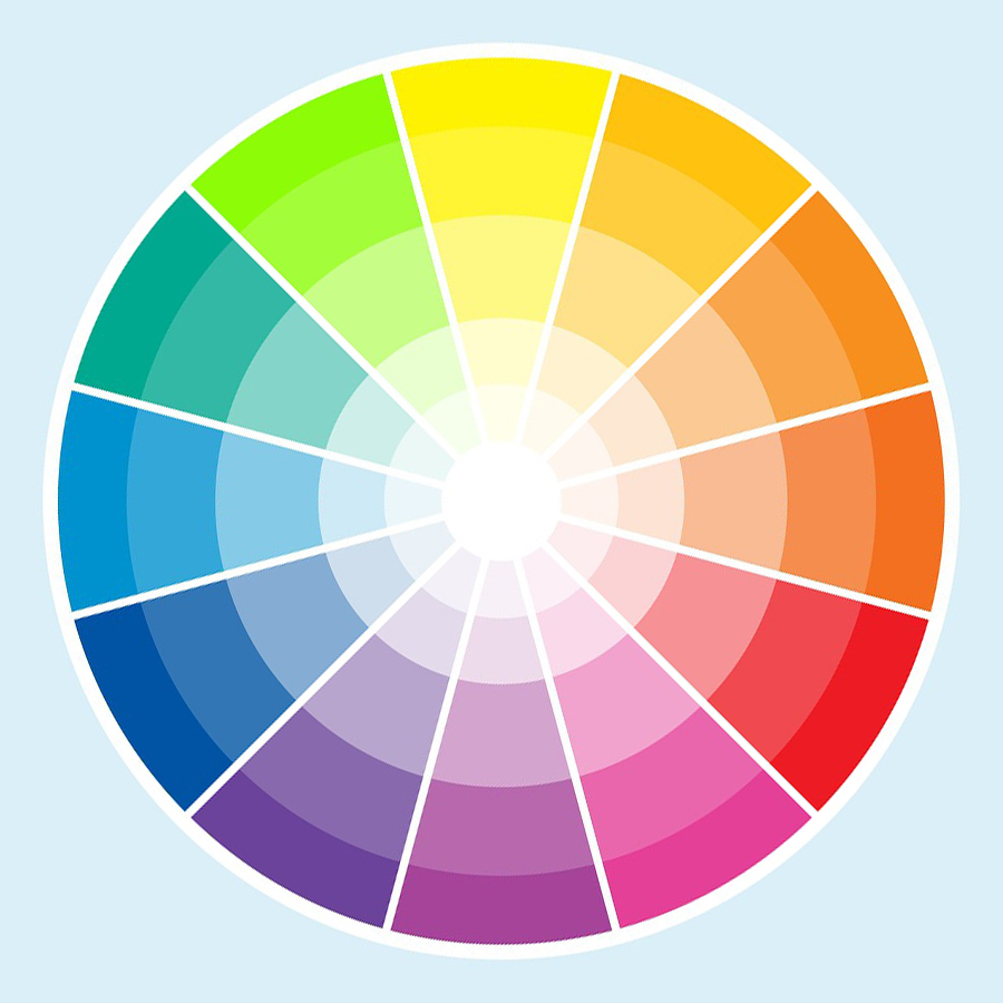 Audrey abby interiors color schemes triad for Picture of colour wheel
