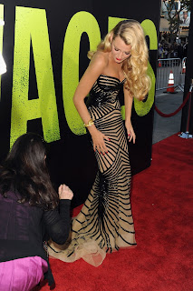 Blake Lively last minute gown touches for the red carpet photos