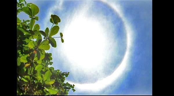 """Fenomena Alam """"Halo Matahari"""" Muncul di Langit Banjar"""