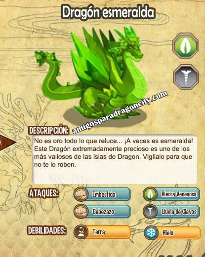 imagen de las caracteristicas del dragon esmeralda